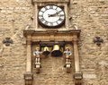 Ancient clock in Oxford Stock Images