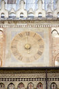 Ancient clock in padua on the wall of palazzo della ragione italy Royalty Free Stock Photography