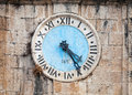 Ancient clock tower of central saint nicholas church perast town montenegro Royalty Free Stock Photography