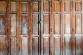 ancient closed and forgotten doorway Royalty Free Stock Photo