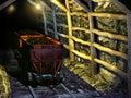 Ancient coal mine Royalty Free Stock Photo