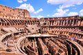 Ancient colosseum of rome interior the famous italy Royalty Free Stock Images
