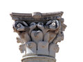 Ancient column head - isolated Royalty Free Stock Photo