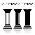 Ancient columns illustration with for your design Royalty Free Stock Photos
