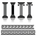 Ancient columns illustration with for your design Stock Images