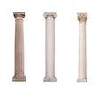 Ancient Columns Of Ionic, Dori...