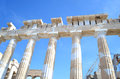 Ancient columns of Parthenon Acropolis Greece Royalty Free Stock Photo