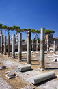 Ancient columns in rome the trajan s market italy Royalty Free Stock Photos