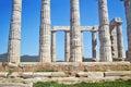 Ancient columns Temple of Poseidon Cape Sounion Greece