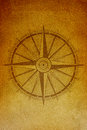 Ancient compass background with at the foreground Stock Photography