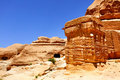 Ancient constructions at Petra Royalty Free Stock Photos