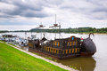 Ancient criuse ship on the vistula river in poland Stock Photos