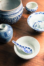 Ancient crockery older than years Royalty Free Stock Photography