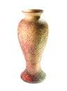Ancient crockery vase isolated on white background Royalty Free Stock Photo