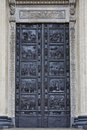 Ancient decorated door kazan kathedral Royalty Free Stock Photography