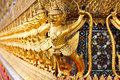 Ancient Decoration At Wat Prakaew Royalty Free Stock Photo