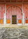 Ancient decorative door painted wall jaipur city palace cit palace complex jaipur capital rajasthan state india palace was built Royalty Free Stock Photo