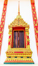 Ancient decorative door of thai temple thailand Royalty Free Stock Image
