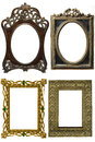 Ancient decorative frame white background Royalty Free Stock Photos