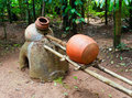 Ancient distiller for cashew Fenny drink.Goa Stock Images
