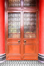 Ancient door chinese style in hongkong Stock Image