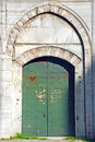 Ancient door of an mosque in istanbul Royalty Free Stock Images
