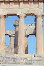 Ancient Doric columns Royalty Free Stock Photography