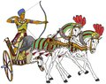 Ancient Egyptian chariot Royalty Free Stock Photo