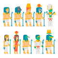 Ancient egyptian gods set cartoon design