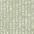 Ancient Egyptian hieroglyphic decorative background Royalty Free Stock Photo