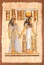 Ancient egyptian papyrus egyptian queen cleopatra parchment Stock Photos