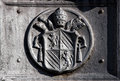 Ancient emblem of the Vatican City in Rome (Italy) Royalty Free Stock Photo