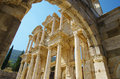 Ancient ephesus celsius library in the city of in turkey Royalty Free Stock Photo