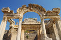 Ancient ephesus temple of hadrian in the city of in turkey Stock Photo