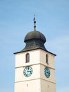 Ancient european tower architecture sibiu medieval council in romania Stock Image