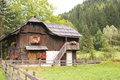 Ancient farmhouse in austria old the alps of Royalty Free Stock Image