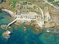 Ancient fish industry aerial view of sicily Stock Photography