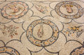 Ancient floor mosaic in the basilica of aquileia italy Stock Images