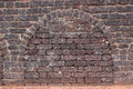 Ancient fort brick wall texture background of an old in a the arch makes a good to place your text inside the is Royalty Free Stock Photography