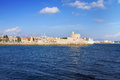 An ancient fortification round.Greece. Rhodes. Stock Image