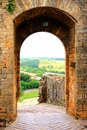 Ancient fortifications of Tuscany Royalty Free Stock Image