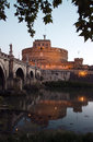 The ancient fortress and jail named castel sant angelo rome italy Stock Images
