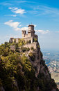 Ancient fortress of San Marino Stock Photos