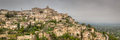 Ancient french village of gordes panoramic view mountain in southern france this is a hdr image from a stitched panorama these Stock Image