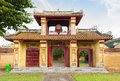 Ancient gate in citadel of hue imperial city entrance vietnam unesco world heritage site Royalty Free Stock Photo