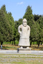 Ancient general stone statue in the eastern royal tombs of the q zunhua may qing dynasty on may zunhua hebei province china Stock Photography