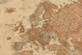 Ancient geographic map of Europe Royalty Free Stock Photo