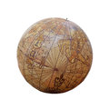 Ancient globe, isolated Royalty Free Stock Photo