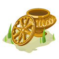 Ancient Gold Vase And Wheel. T...