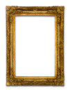 Ancient Gold wood frame Royalty Free Stock Image